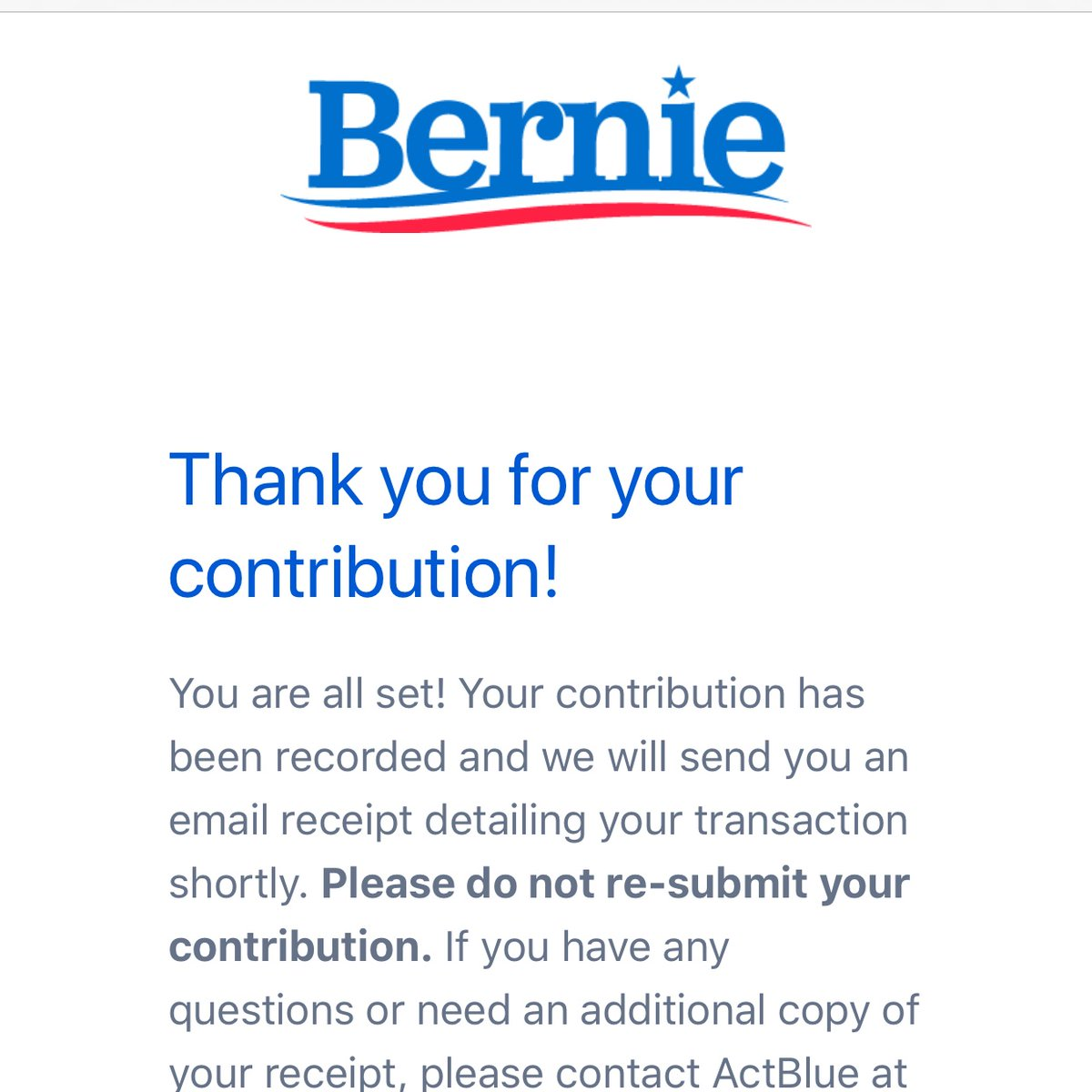 @HillaryClinton thanks for the motivation. Every time you trash him, I will give more  #iLikeBernie  #RespondWithSolidarity<br>http://pic.twitter.com/Jf5iV7dRlj