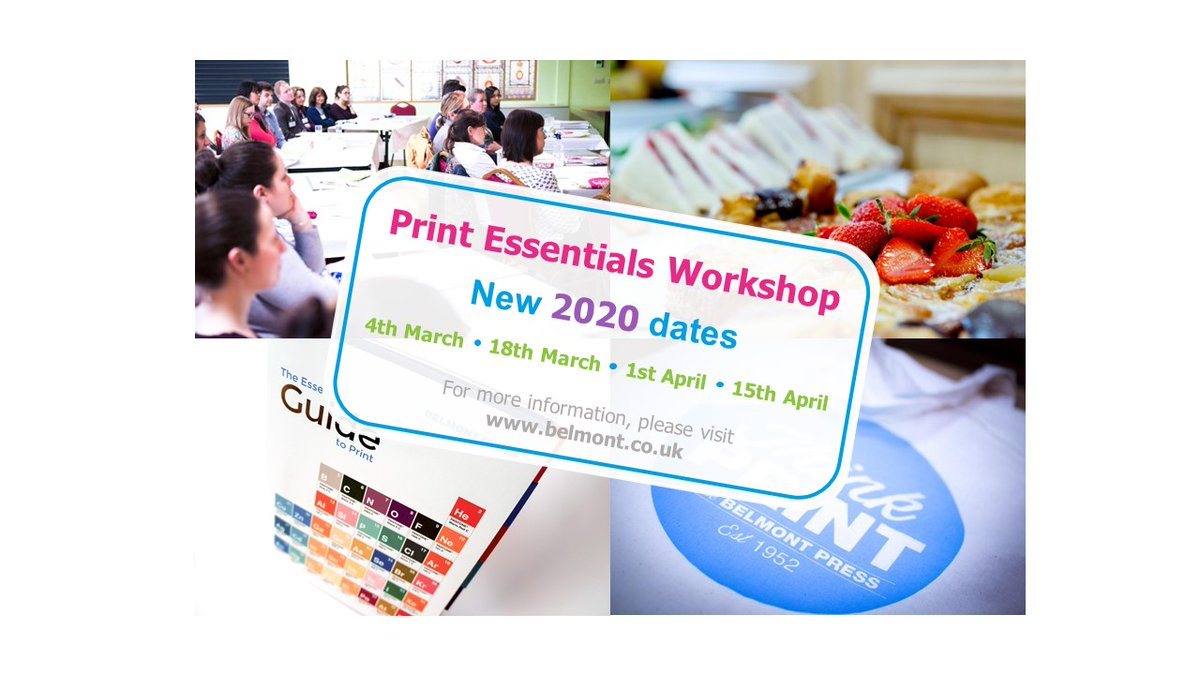 Belmont Print Essential Workshops: Places filling up fast... book yours today! https://t.co/itDIb1zZUs