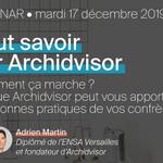 Image for the Tweet beginning: Archidvisor, merci de nous suivre
