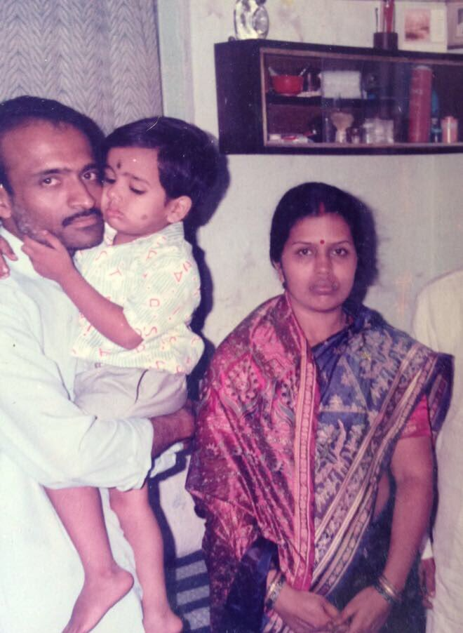 Rohit Sharma With Parents During Childhood Days ( Photo - @ImRo45)