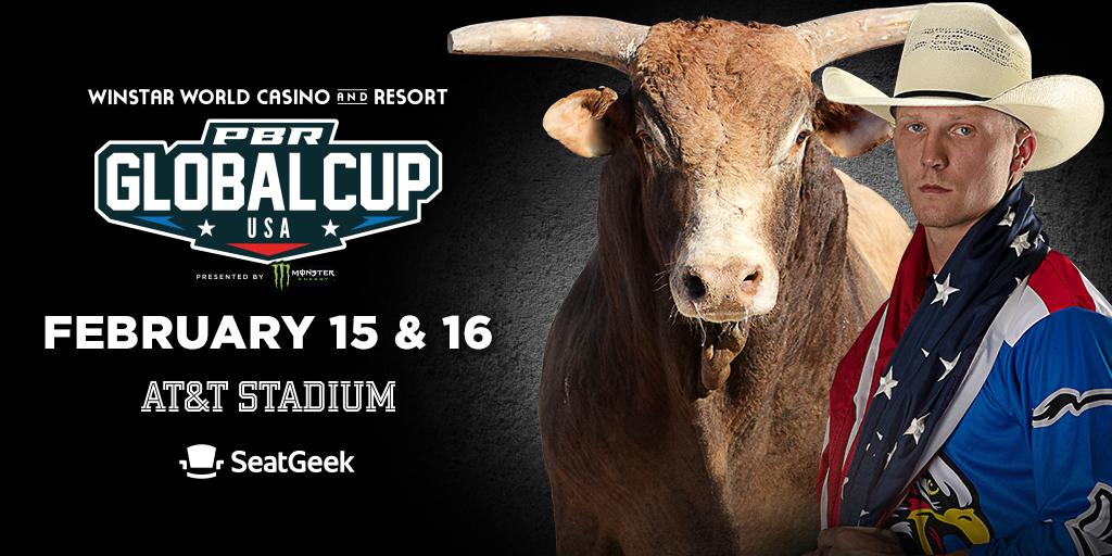 The @PBR Global Cup will return to the U.S. for the next edition of the 5️⃣-nation tournament with the 2020 @WinStarWorld Casino and Resort PBR Global Cup USA, presented by @MonsterEnergy, February 15-16. 🐂 Tickets are on sale now! 🎟 → bit.ly/37gQeAW