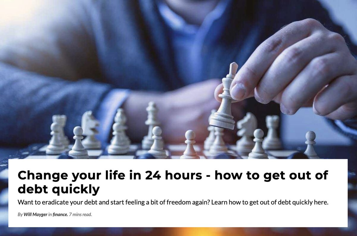 Change your life in 24 hours - how to get out of debt quickly  https://newageofplenty.com/finance/change-your-life-in-24-hours/how-to-get-out-of-debt-quickly/ …  #debt #money #finance #changeyourlife #getoutofdebt #youcandoitpic.twitter.com/gMALuWMcCI