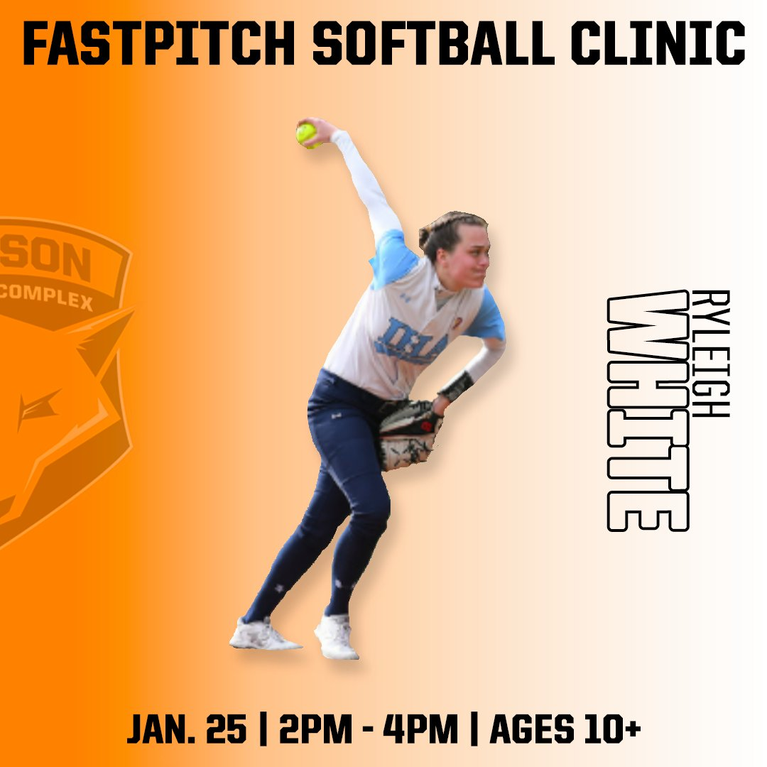 We cannot wait to have local fastpitch star, Ryleigh White, lead our upcoming softball clinic this Saturday. Learn from a nationally ranked pitcher who is now a DI commit! Sign up today! https://www.hudsonsportscomplex.com/events-1/the-complete-softball-pitchers-clinic…  #softballtraining #fastpitchsoftball #HudsonValleypic.twitter.com/VWNdTjDZiJ
