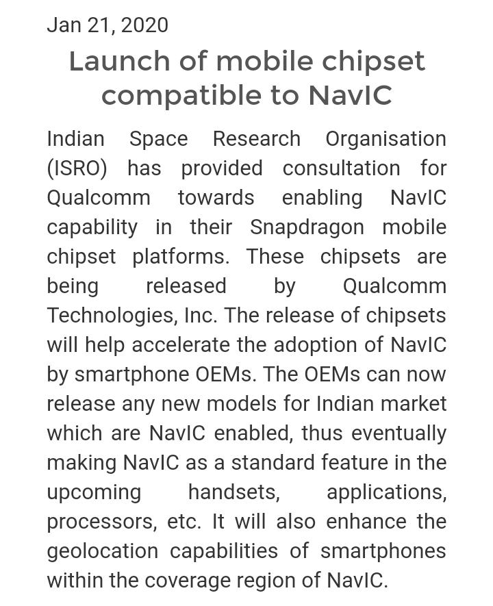 #NavIC #ISRO #Snapdragon