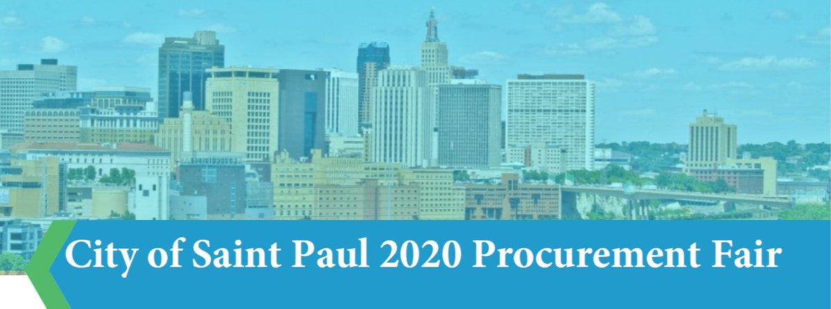 skyline image with title: city of saint paul 2020 procurement fair