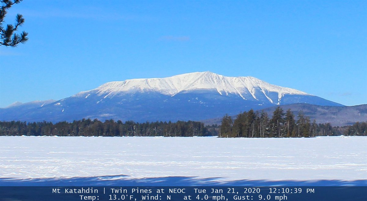 Pour finir la journée un bol d'air en provenance du bel État du #Maine #USA avec son point culminant le Mount #Katahdin qui signifie la plus grande #montagne en langue des indiens Pentagouets (1606 m)