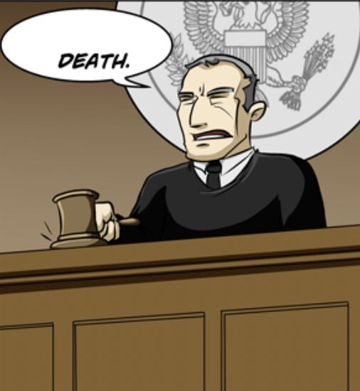 The 2nd image in your gallery is why the judge is sentencing you.