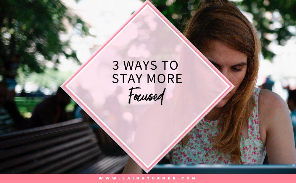 3 Ways To Stay More Focused http://bit.ly/2S9osy9 #author #writer #creativehappylife #lifestyleblogger #fictionauthorpic.twitter.com/avNVulAKyB