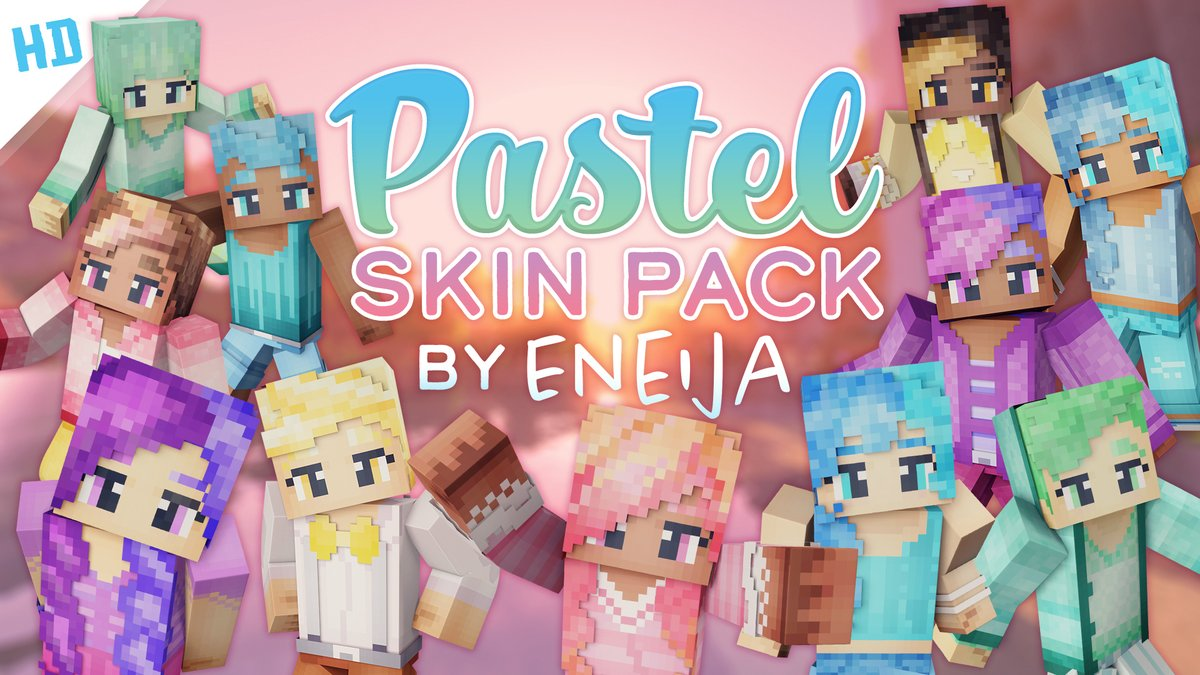 It's the characters you know & love - now back in HD form! I'm so excited to bring back my very first skin pack in a new way. 🌈💕  Find the #PastelPackHD on the @Minecraft Marketplace! »   #MinecraftMarketplace #MCPE #Minecraft