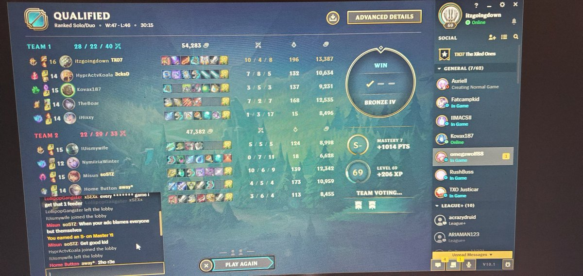 Got another S- with yi you should have been there!!!Check me out link is in bio!!! #lol #League_of_Legends #pcgaming #gaming #gamingchannel #ranked #streamer #moba #PC #StreamingLive #gamer #twitch #TwitchAffilate #SupportSmallStreamers #SmallStreamerCommunity