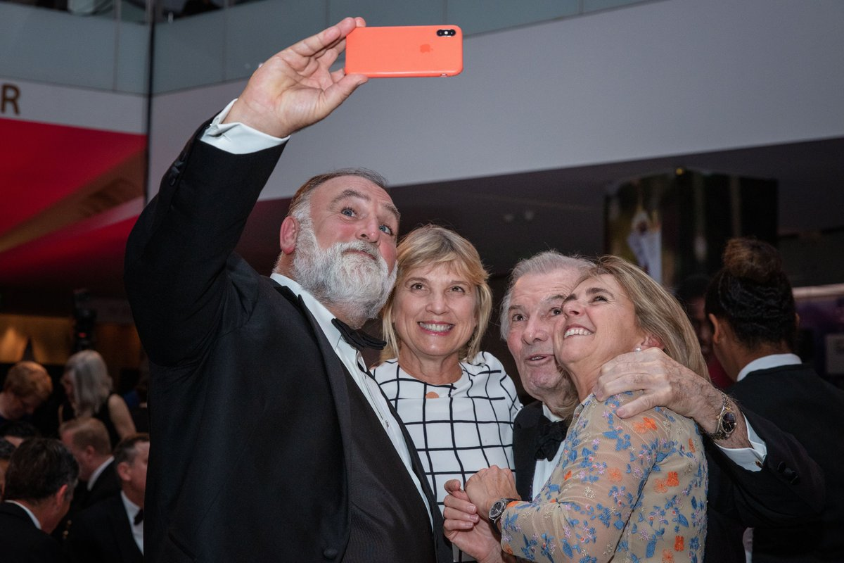 #selfie time at the 5th Annual #SmithsonianFood History Gala @chefjoseandres @jacques_pepin @MarySueMilliken  (Photo: Jaclyn Nash, courtesy of @amhistorymuseum)