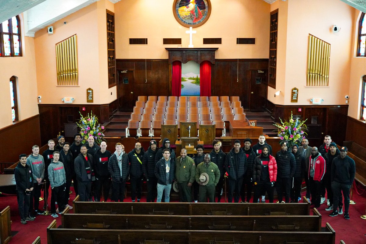Stop 2: @TheKingCenter  To honor the legacy of Dr. Martin Luther King Jr., the team spent time at @TheKingCenter museum, Ebenezer Baptist Church and finished at Dr. King's childhood home. 🙏  #DayInTheA #TrueToAtlanta