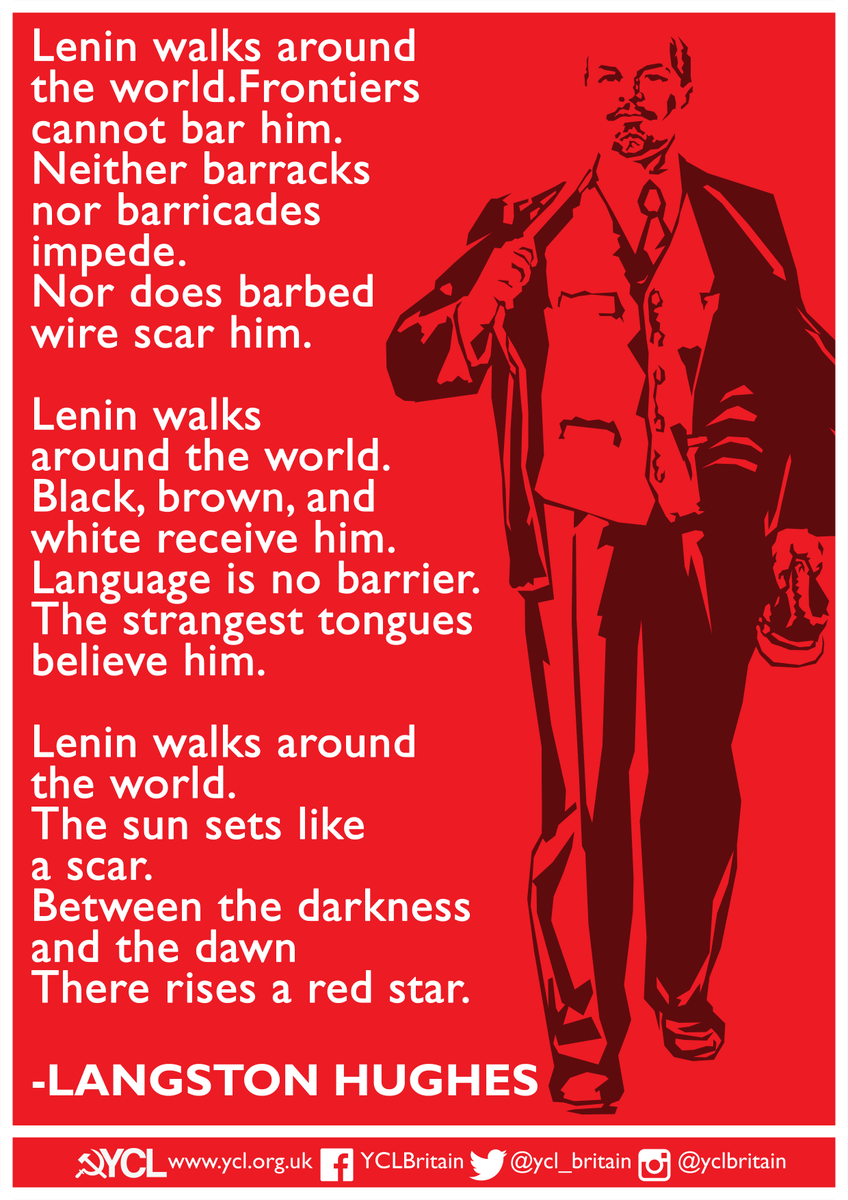 Today is the anniversary of the passing of Comrade Lenin ✊🌍🚩 Leader of the October Revolution, Lenin was the architect of the worlds first proletarian revolution & socialist state. Lenins example & writings remain a tireless inspiration to the youth of the world!