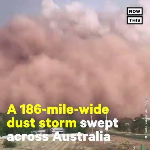 Day turned to night as a 186-mile-wide dust storm swept through parts of Australia