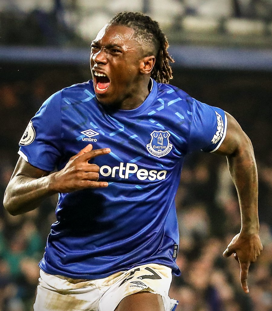 B R Football On Twitter Moise Kean Scores His First Goal For Everton