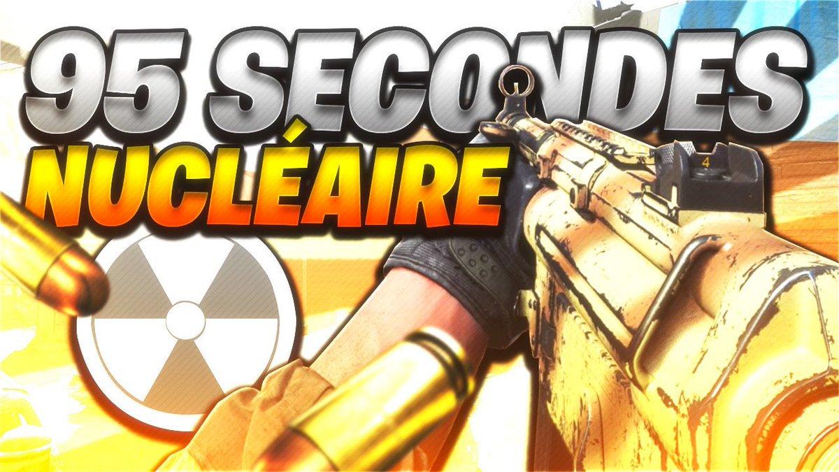 🎞 NOUVELLE VIDÉO 🔥 NUCLÉAIRE en 95 SECONDES ! 🎮 Call of Duty : Modern Warfare ➡️ youtu.be/iOg-rrtD8xk N'hésitez pas à RT & ❤️ !