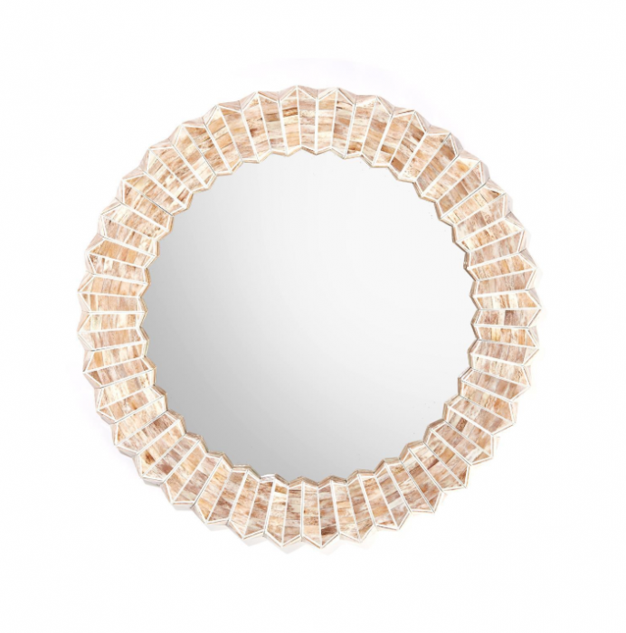 #RT How pretty is our new Beige Chevron Bone Round Flower Wall Mirror? #new #newitems #newarrivals #home #decor #design #interiors #shopping #luxurydecor #luxurydesign #interiordesign #interiordesigners #mirrors #TheWellAppointedHouse Shop now: