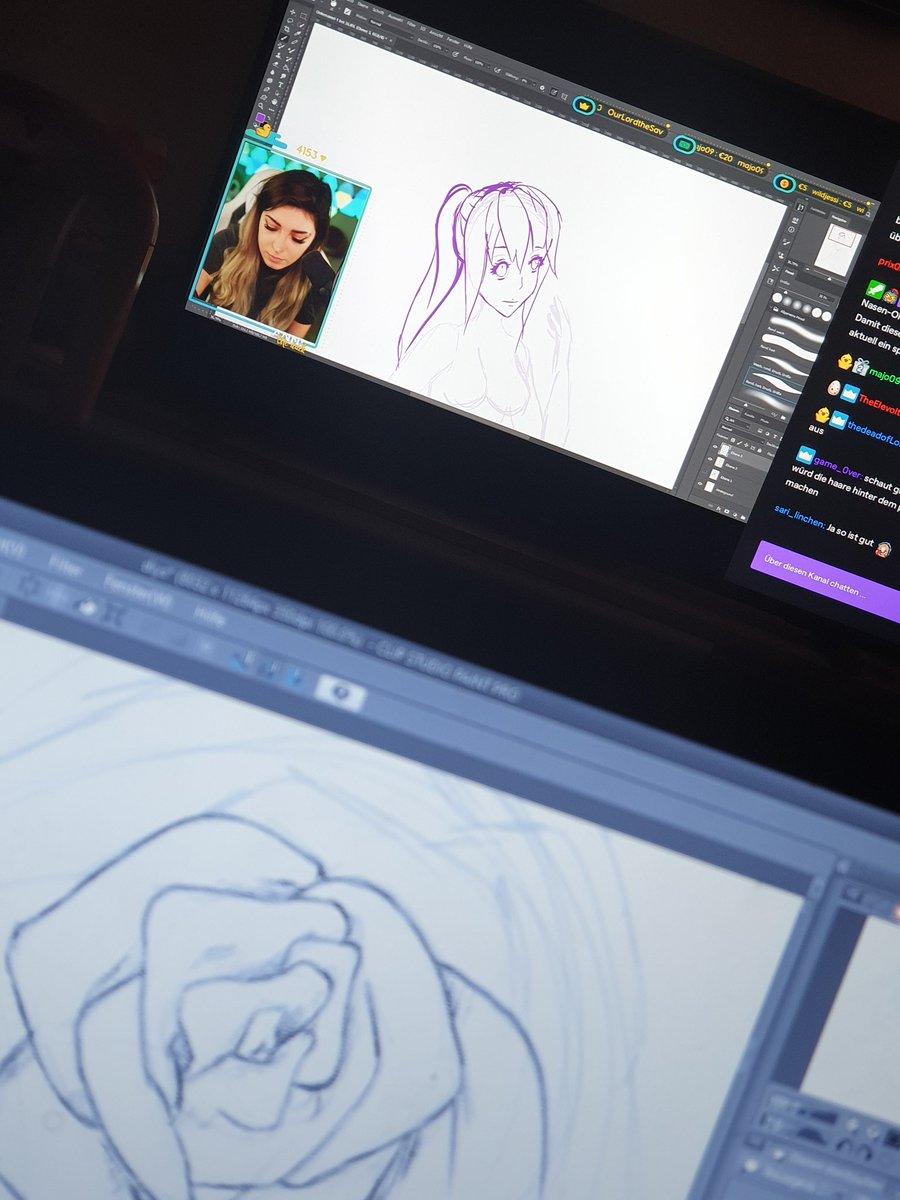 Einen sehr entspannenden stream genießen und das Bild zeichnen, welches schon seit Tagen hätte fertig sein müssen.😅   Schaut doch vorbei!   @AnniTheDuck  #stream #drawing #zeichnen