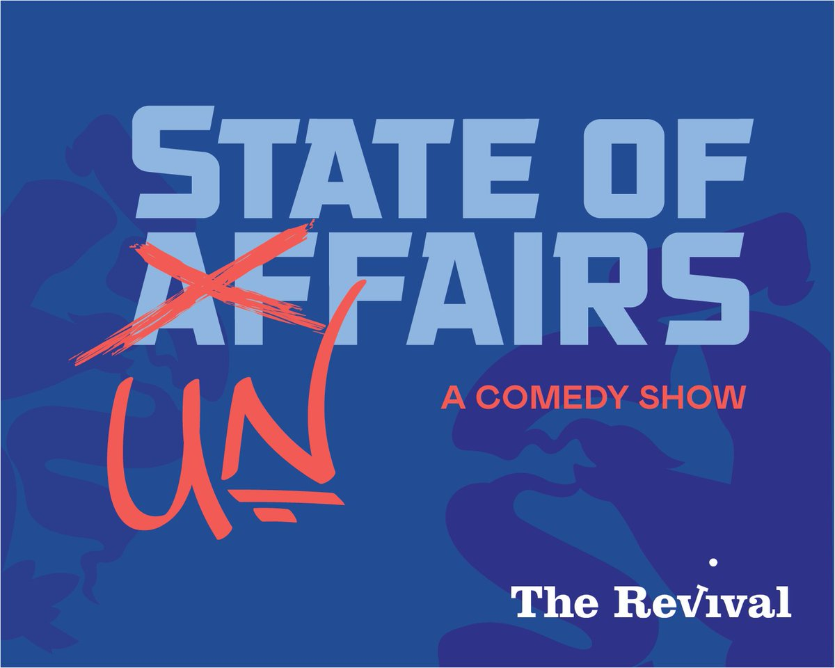 The Revival's Winter Comedy Show - State of Unfairs - opens Saturday, 2/1 (8:00pm) and runs through 3/7. Get tix at http://www.the-revival.com/shows #sketchcomedy #chicagocomedy #improvpic.twitter.com/70PULohuEz