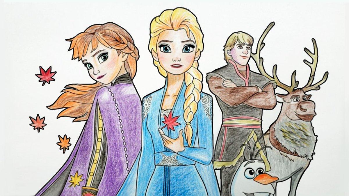 #drawing #Frozen2 #Elsa #anna #olaf #artoftheday