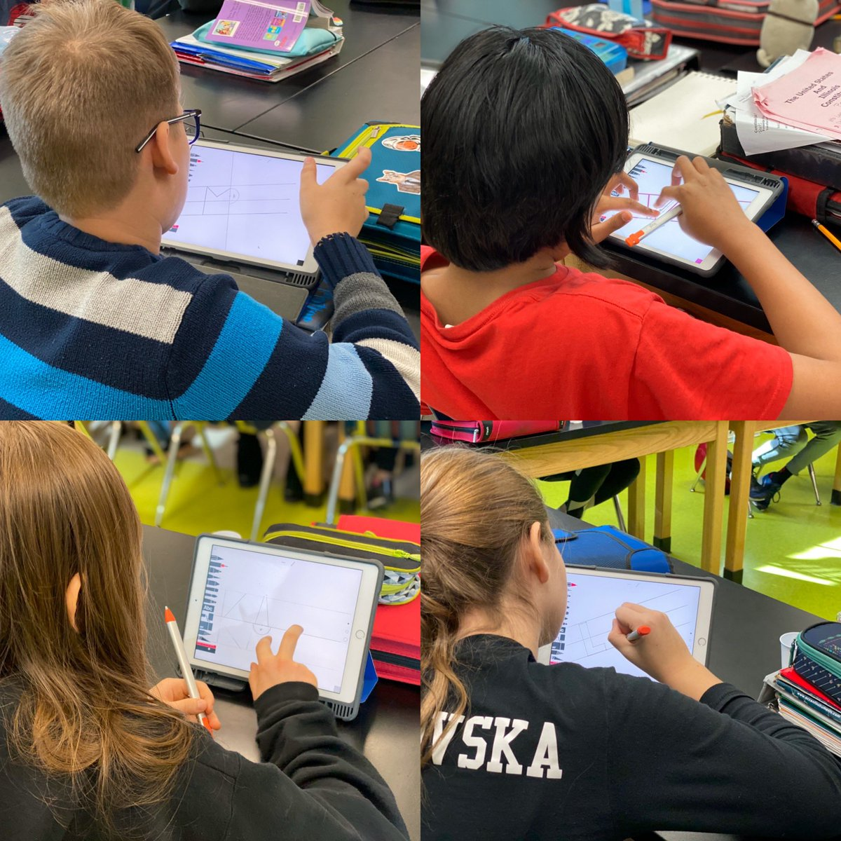Today's #TechChallengeTuesday was inspired by #EveryoneCanCreate #Drawing! Blocks on Blocks focused on drawing a word using block letters. The lesson helped students to design amazing words! #AppleEDUChat #62Learns #62ICS