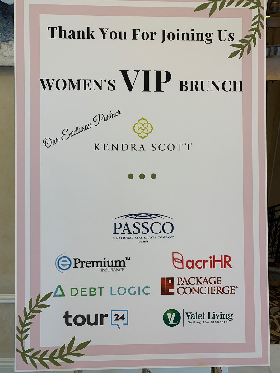 We had an awesome time sponsoring and mingling at the Women's VIP Brunch at the NMHC Annual Meeting #nmhc #orlando #kendrascott #brunch #proptech #tech #apartmentindustrypic.twitter.com/9v1VVOK5A3