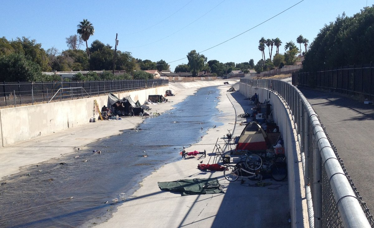 You should see all the homeless Americans today who live in the Flamingo Wash behind my condo complex  here in Las Vegas. Worse now than ever before! Private insurers collect ~$600/month in QE funded #ACA  subsidies off each one!  #GetCovered  with health insurance but not housing.