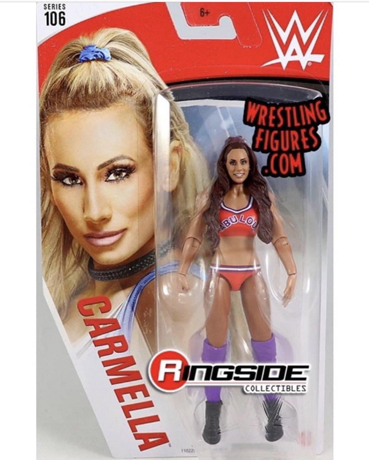 Mattel WWE Basic Series 106 Carmella Regular and Variant Action Figure