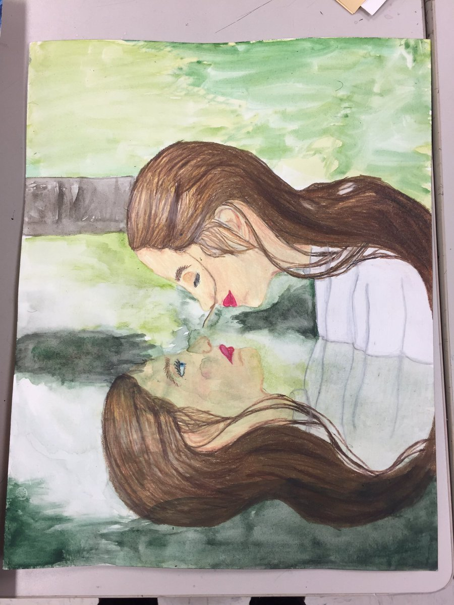 """Art II is creating their own piece based off the word """"reflection"""" I am loving the variety!   . #art #highschoolart #reflection #artmatters #highschoolartteacher #iteachart pic.twitter.com/BaH7ELxTCW"""
