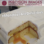 NEVER MISS A MONDAY! Why? Because #MondaysAreDelicious at #PrecisionImages! Each week #ChefDavid treats us to an amazing culinary surprise! This week it was Yellow Cake with a Lemon Curd filling! All homemade! So delicious! So easy to see why this is the #BestJobEver