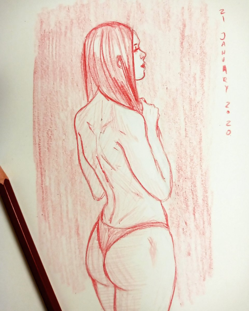 I'm on track now day #21  - - #sketching #sketchbook #sketch #redpencilsketch #redsketch #redpencil #butt #synthart #synthwave #doodlesketch #dailyart #drawnuary2020 #drawing #dailysketch #januarysketch #jonathanhernandezartpic.twitter.com/xw6qqvdzp7