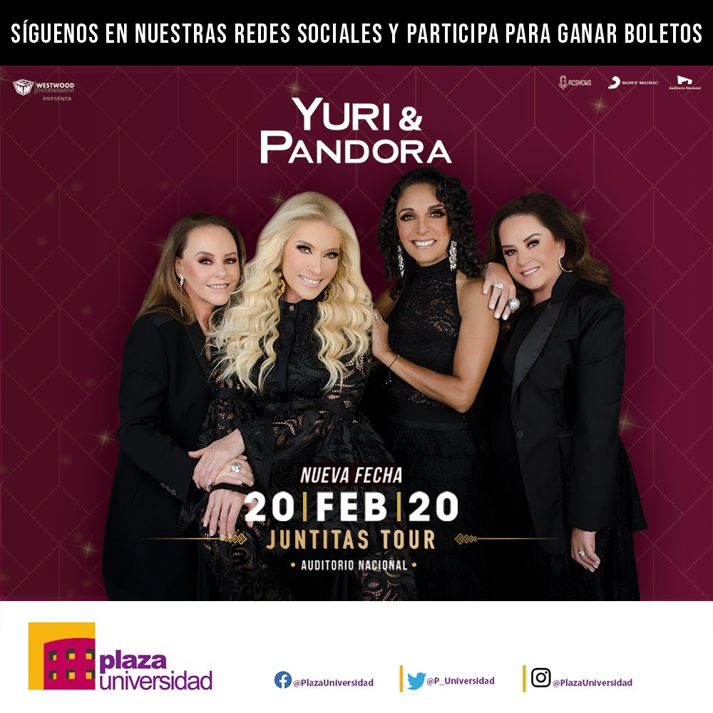 Regresa #JuntitasTour2020 al #AuditorioNacional  con una nueva fecha 20 de Febrero https://t.co/CT8sgpKDuS