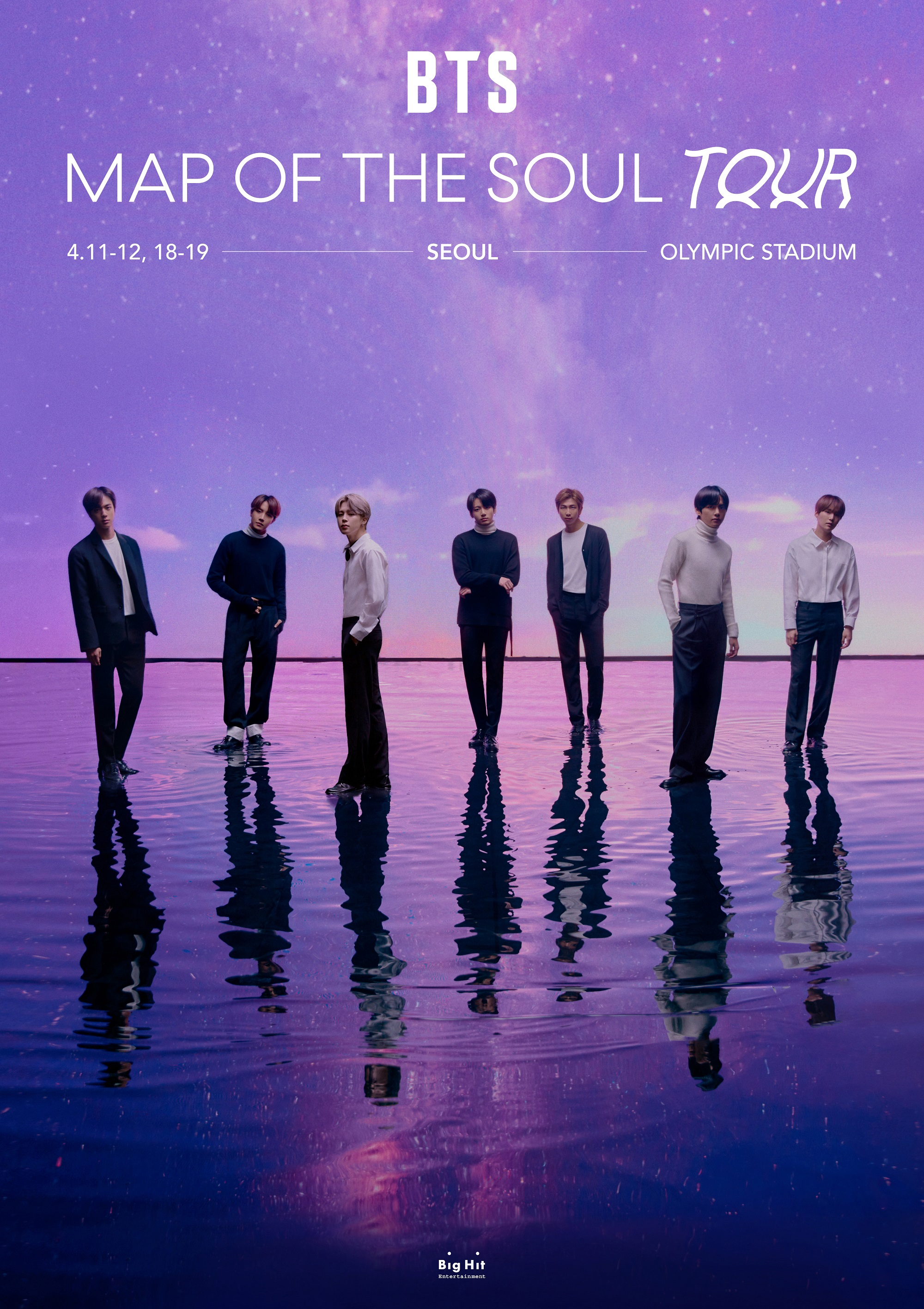 BTS Rilis Tanggal Map of The Soul TOUR di Korea Selatan, Amerika Utara, Jepang dan Eropa