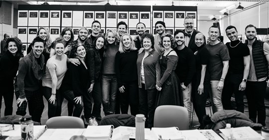Very exciting first day of rehearsal with the full company of DIANA on Broadway. @DianaOnBroadway #thedianamusical