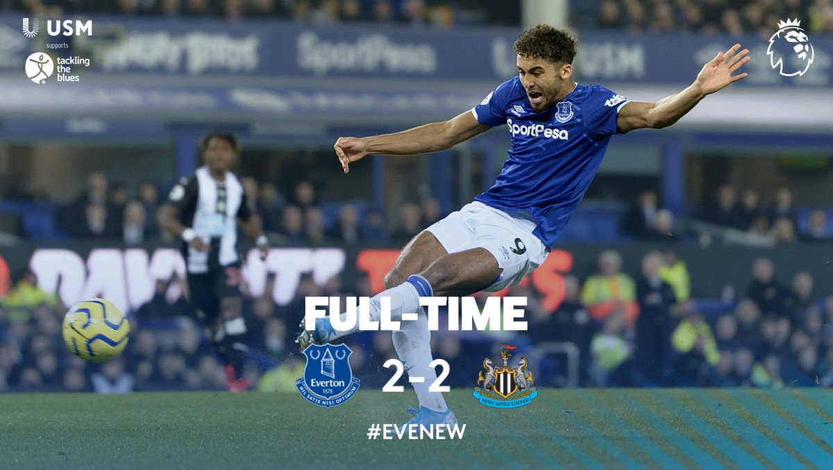 FT. Two points dropped right at the death after 90 minutes of dominance. 🔵 2-2 ⚫️#EVENEW