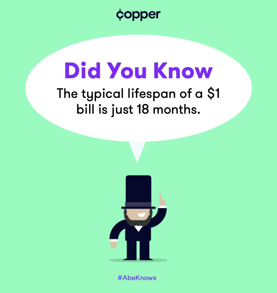 The typical lifespan of Copper is....forever. #ForgetTheGreen #GetCopper #AbeKnows #FunFacts pic.twitter.com/xys87qoKRO