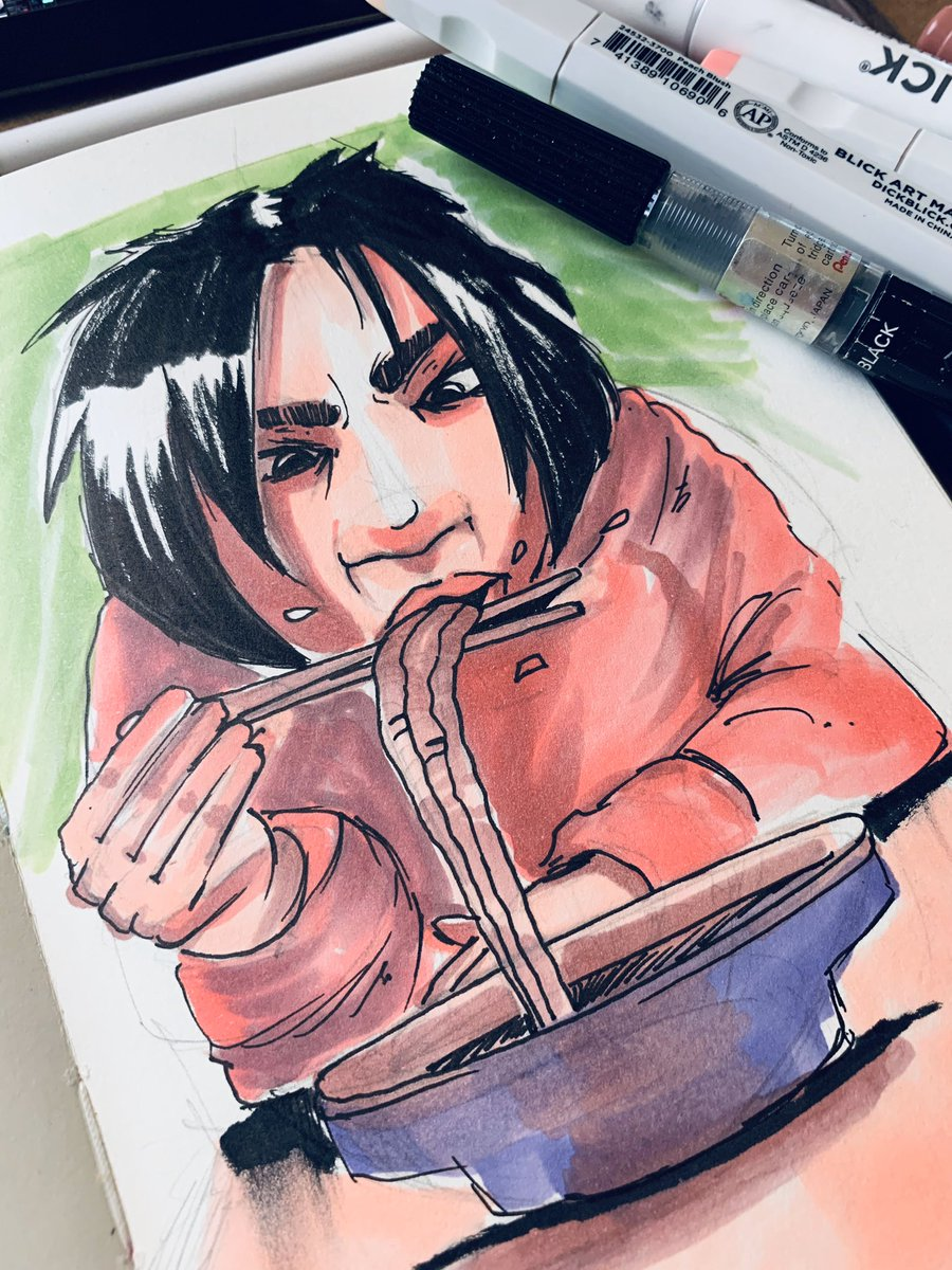 21/365 #draweverydamnday #blickmarkers #copic #moleskine #noodles #yum #chopsticks #thatsnotright   #n3rds  #dopeart  #artnerd  #acompanyofn3rds  #anartistlifeforme #fightevilkickasspic.twitter.com/5jAY3XhCkl
