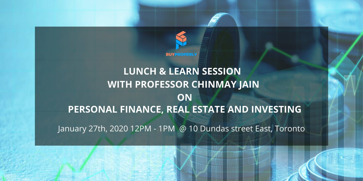 Reserve your seat today - http://bit.ly/2RcrhRDfor    Enhance your knowledge in this one-off knowledge session with our guest speaker - Professor Chinmay Jain @RyersonDMZ @blogTO @MyTOFD   #investment #realestateinvesting #investments101 #PropTech #personalfinance #buyproperlypic.twitter.com/F0DfRncNNc