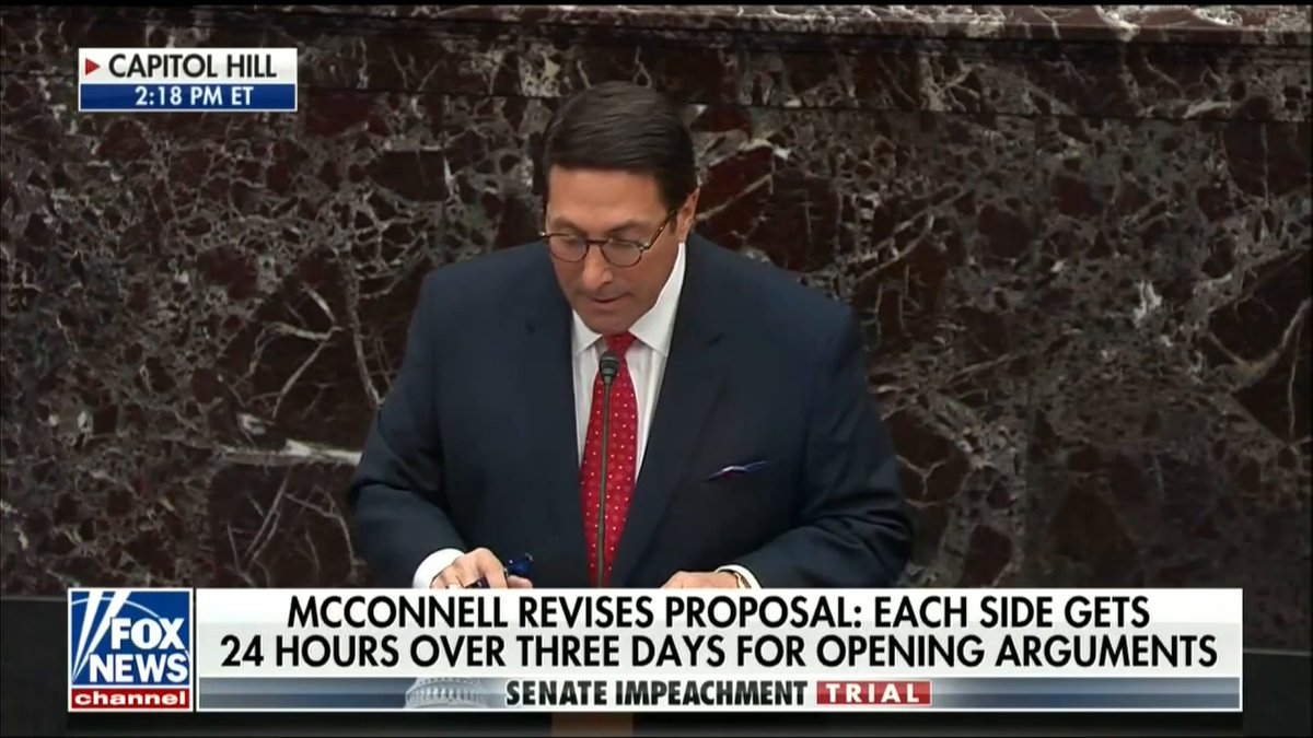 """""""The President was denied the right to cross-examine witnesses. The President was denied the right to access evidence. And the President was denied the right to have counsel present at hearings. Thats a trifecta—a trifecta that violates the Constitution of the United States."""
