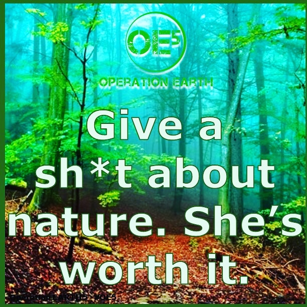 Give a #shit about #nature. #operationearth #oe5 #earth #earthlove #gogreen #plantatree #PositiveVibes #NoPlasticWaste #climatestrike #noplanetb #motherearth #cleanair #recycle #reuse #upcycle pic.twitter.com/RBTgEbenHR