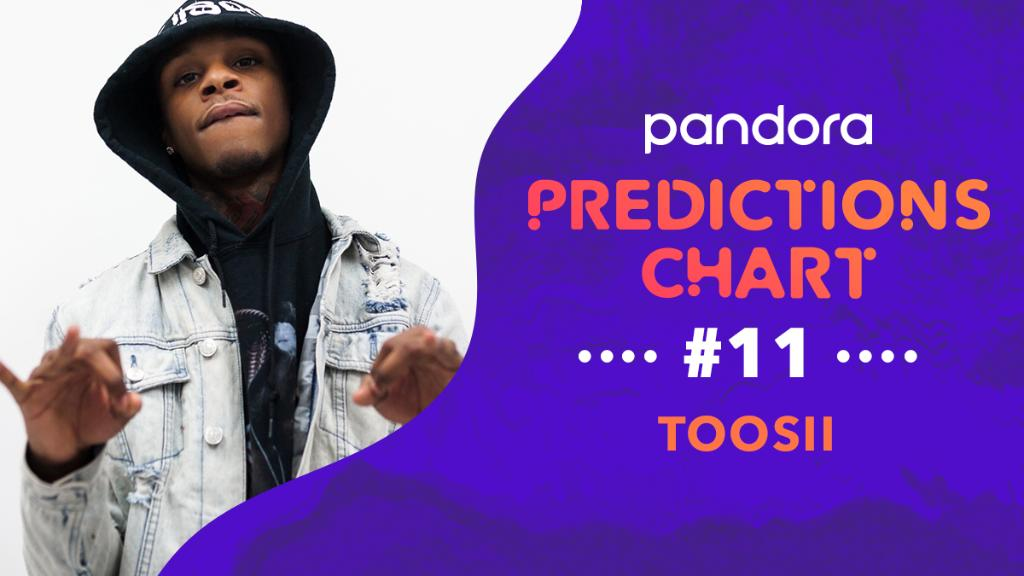 Rapper @toosii2x is featured on this week's Pandora Predictions chart! ✨ Hear his track Red Lights on our playlist now: pdora.co/2HFIo9L #PandoraMusic