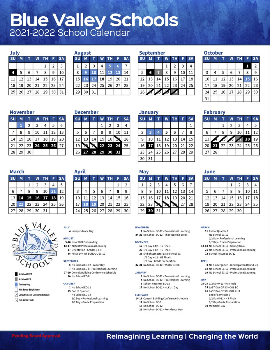Cms Calendar 2022.Blue Valley Schools On Twitter Proposed 2021 22 School Year Calendar Presented To Boe For Review Before February Vote View Proposed Calendar On The District Website And Email Comments To Bvinfo Bluevalleyk12 Org Https T Co Ryjm9jorca Https T