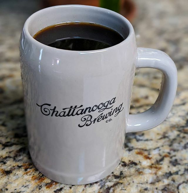 My 2019 @chattanoogabrewco Mug Club mug was retired when my 2020 debuted. The 2019 is now at the house serving stout coffee instead of coffee stout. It does both admirably. . . . . #mugclub #stoutcoffee #stein #chattanoogabrewingcompany