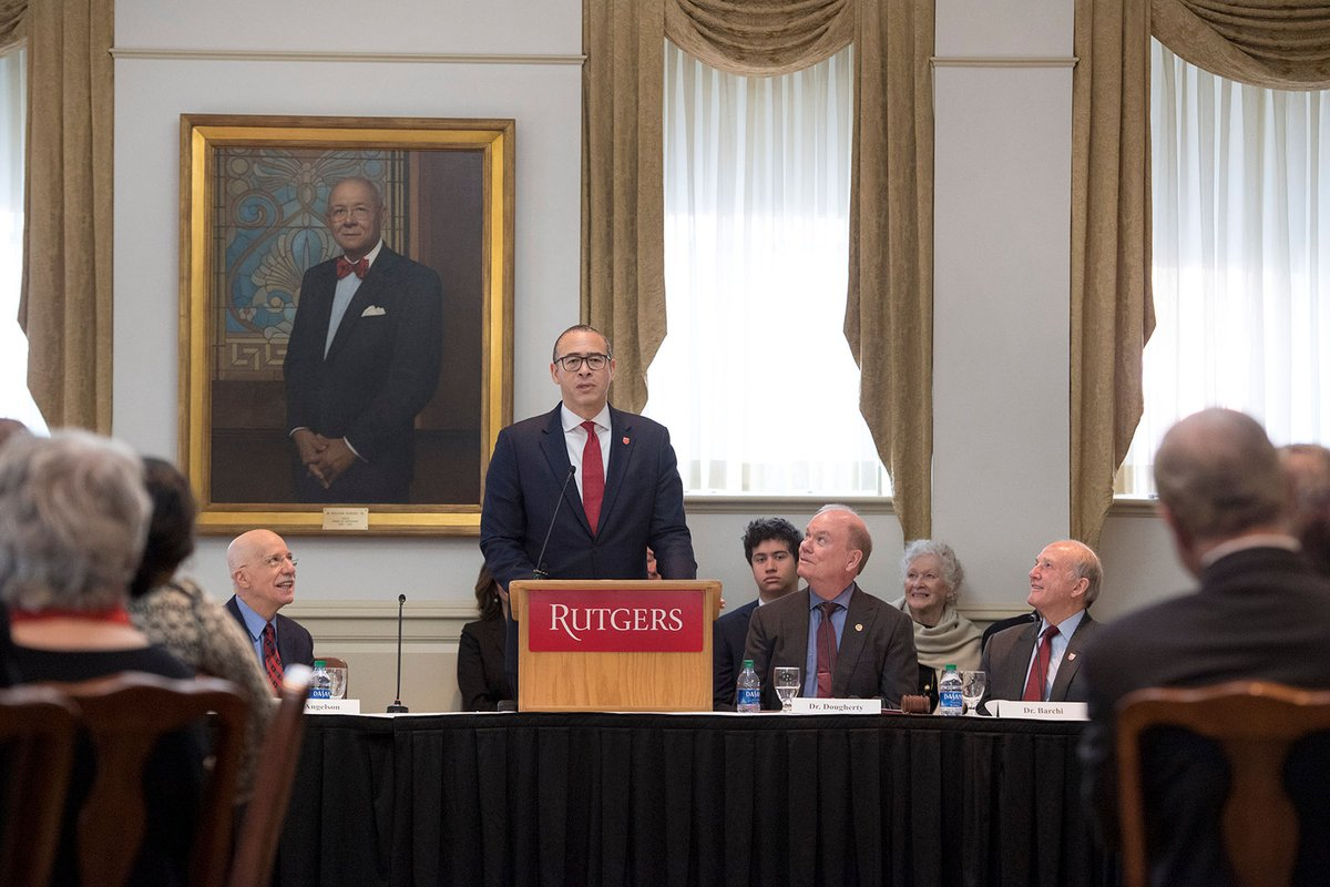 Watch President-Designate Jonathan Holloway's full remarks: go.rutgers.edu/d8ve7i9z #RutgersPride