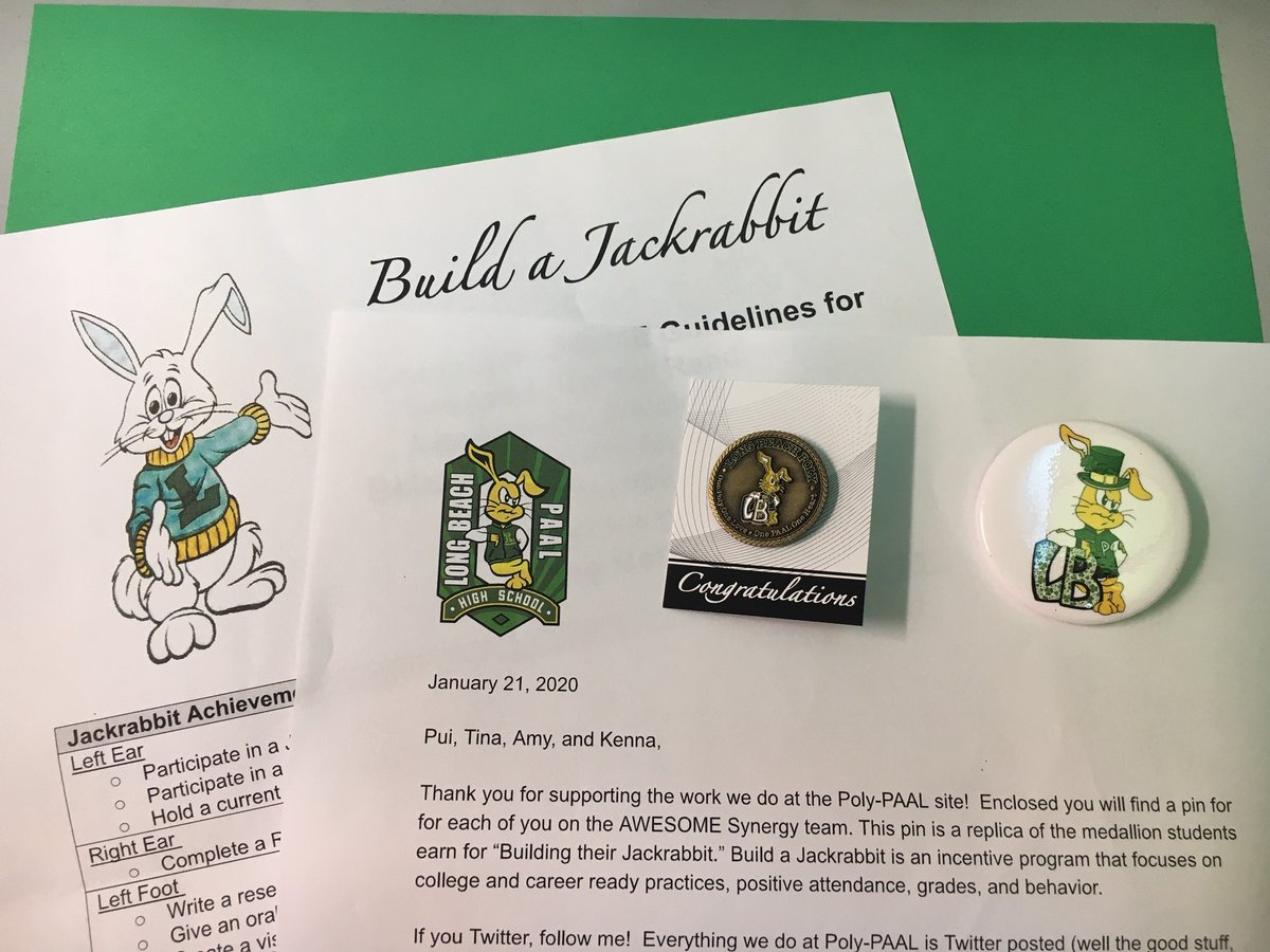 Thank you @LopezLBPolyPAAL for the Poly-PAAL pins! #SynergizeLB  #ProudtobeLBUSD