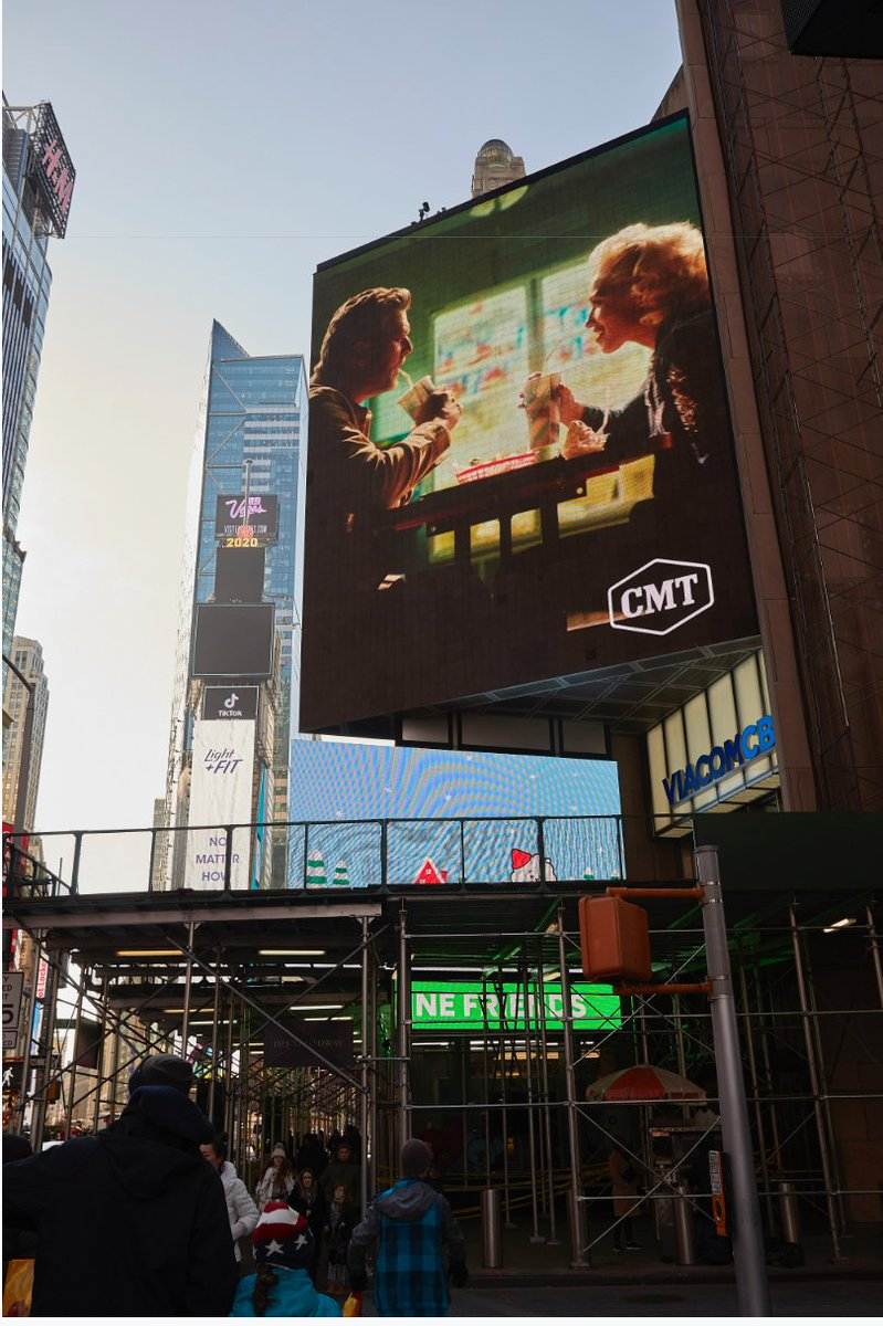 Well hell @cmt!! Thanks for putting #NobodyButYou on the big screen in Times Square! Y'all be sure to check out our new video if you haven't already! @gwenstefani #CMT