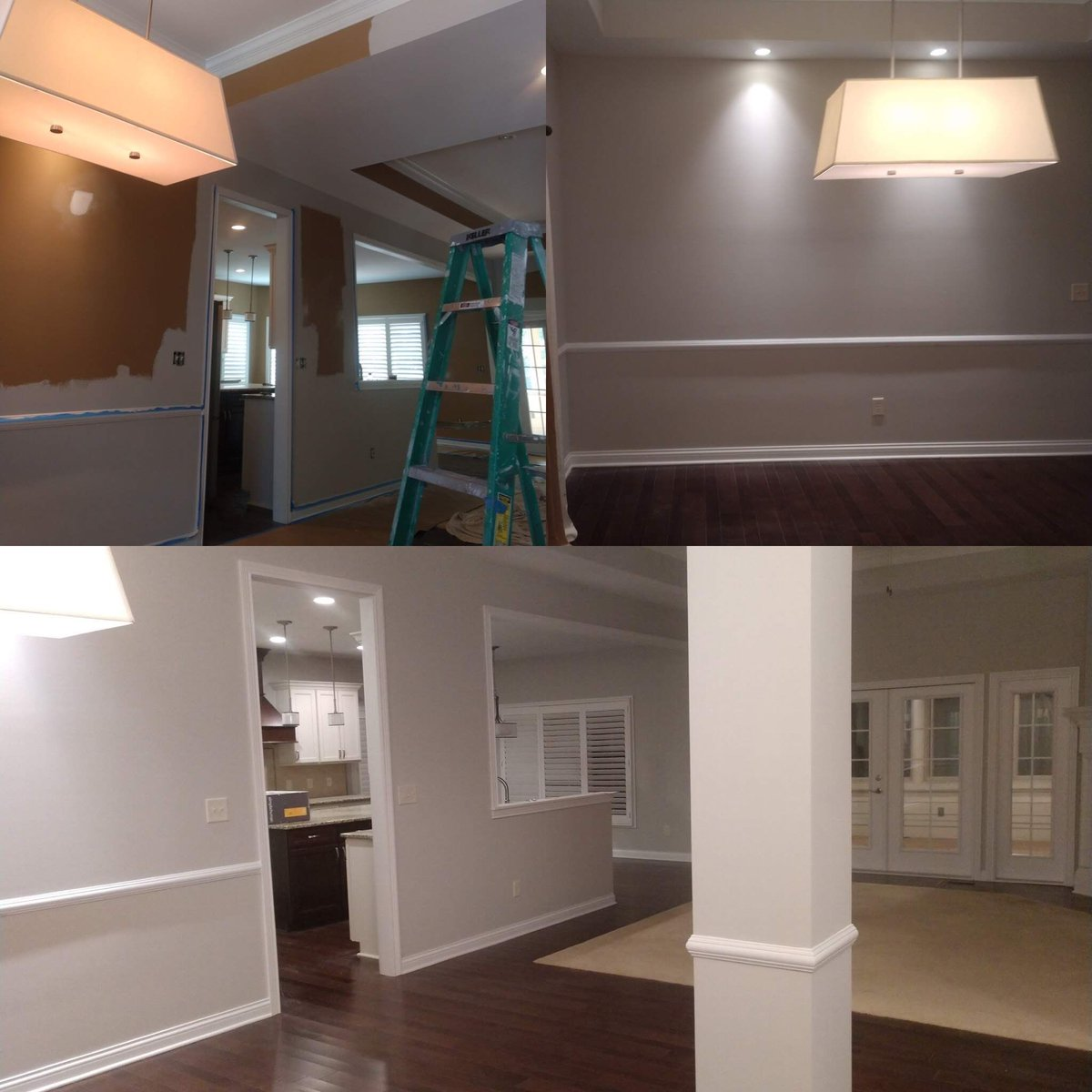 This interior in Fishers look great with some new paint!   #interior #paint #fishers #ourtown #SWReposeGray