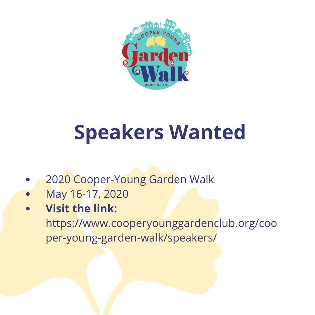Do you love gardening? Do you know your stuff? Do you hold people's attention at parties? Then the #cooperyounggardenwalk wants you!   #cooperyoung #gardeningislifepic.twitter.com/4J99VF5TaH