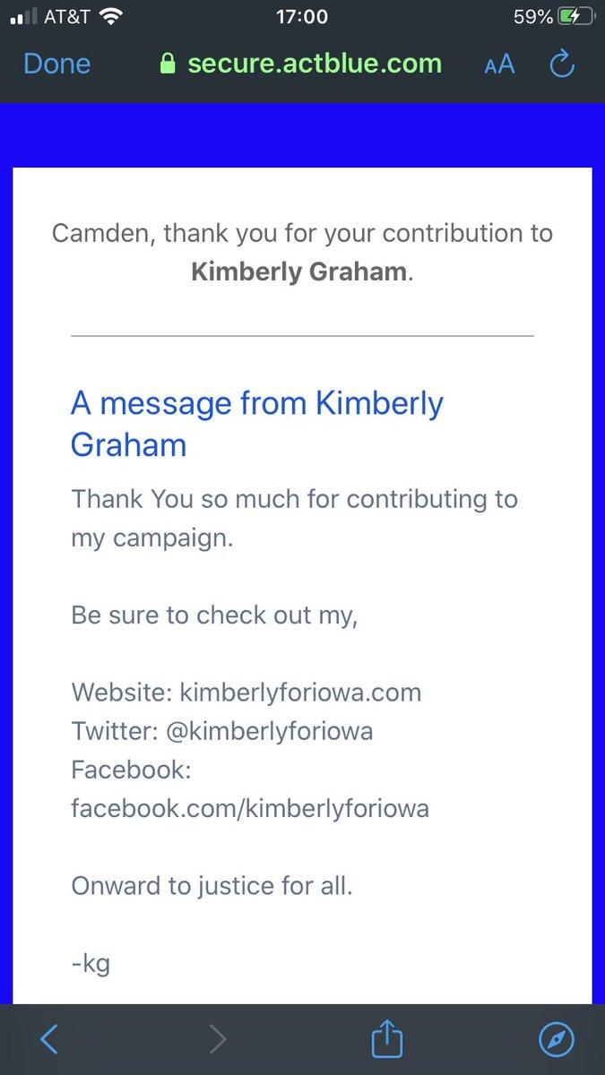 @KimberlyforIowa @BernieSanders Just donated! #ILikeBernie