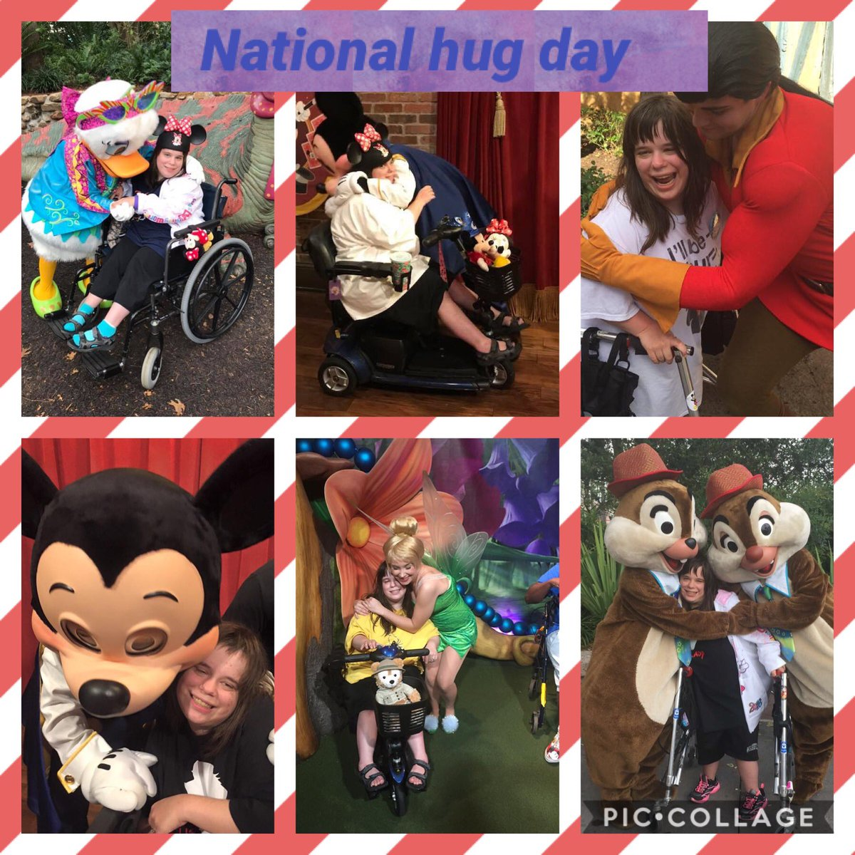 Happy National hug day everyone ❤️ here is a collage of some of my favorite Disney friends giving me hugs. Disney hugs  are the best. @WaltDisneyWorld #NationalHugDay #DisneyWorld #disneyfriends